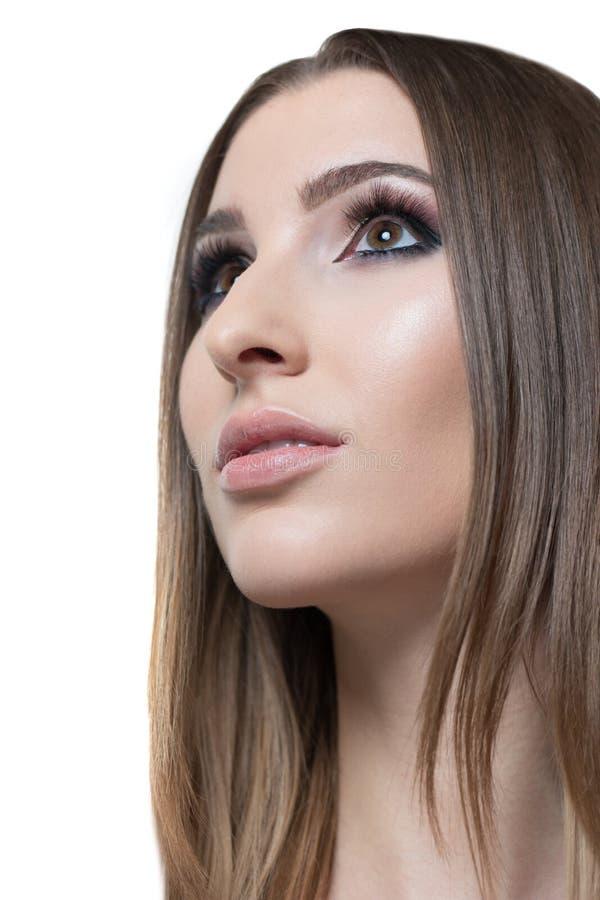 Profilowa piękno kobieta fotografia stock