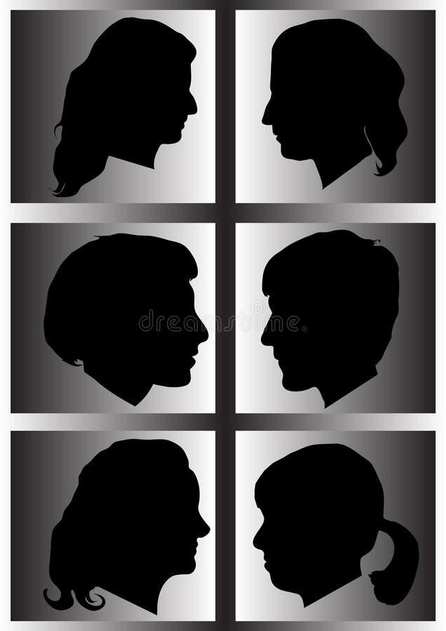 profilowa sylwetki kobieta ilustracja wektor