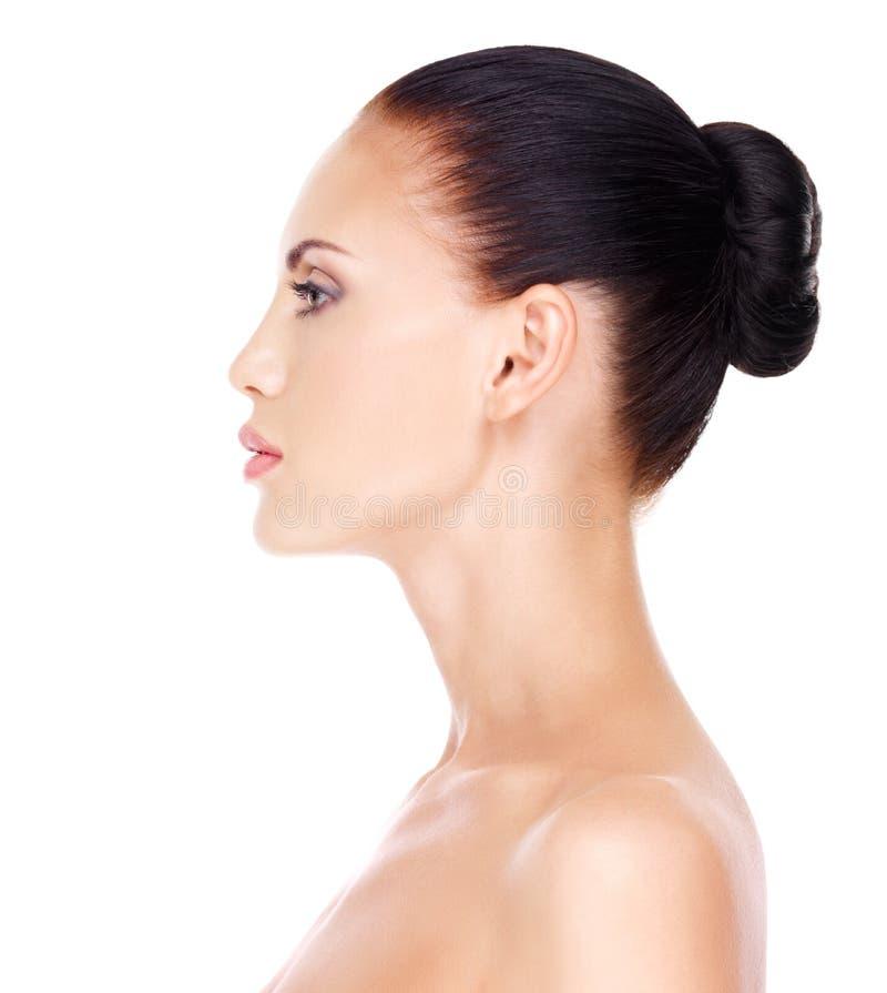 Profilowa twarz młoda kobieta fotografia stock