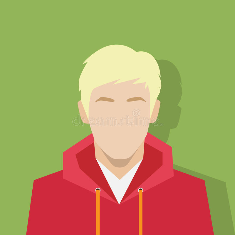 Profilowego ikony avatar męskiego portreta przypadkowa osoba ilustracji