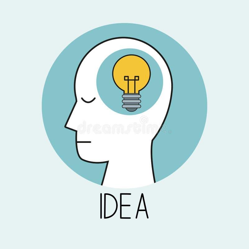 Profilowy ludzkiej głowy pomysł ilustracji
