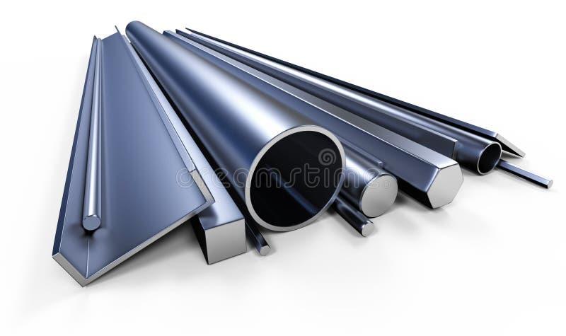 Profilowy metal royalty ilustracja