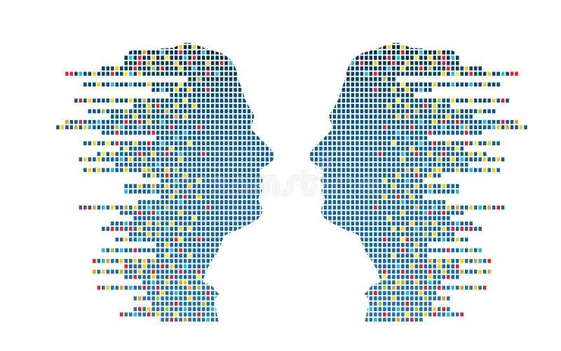 Profils de Technologic illustration de vecteur