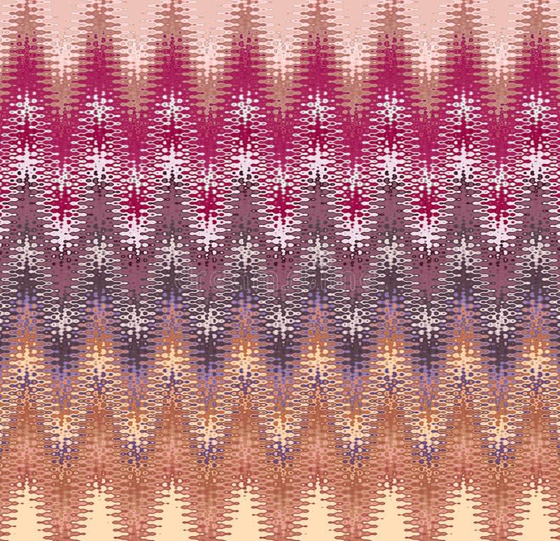Profils onduleux d'abrégé sur peinture de Digital dans différentes nuances de fond clair de couleurs en pastel illustration de vecteur