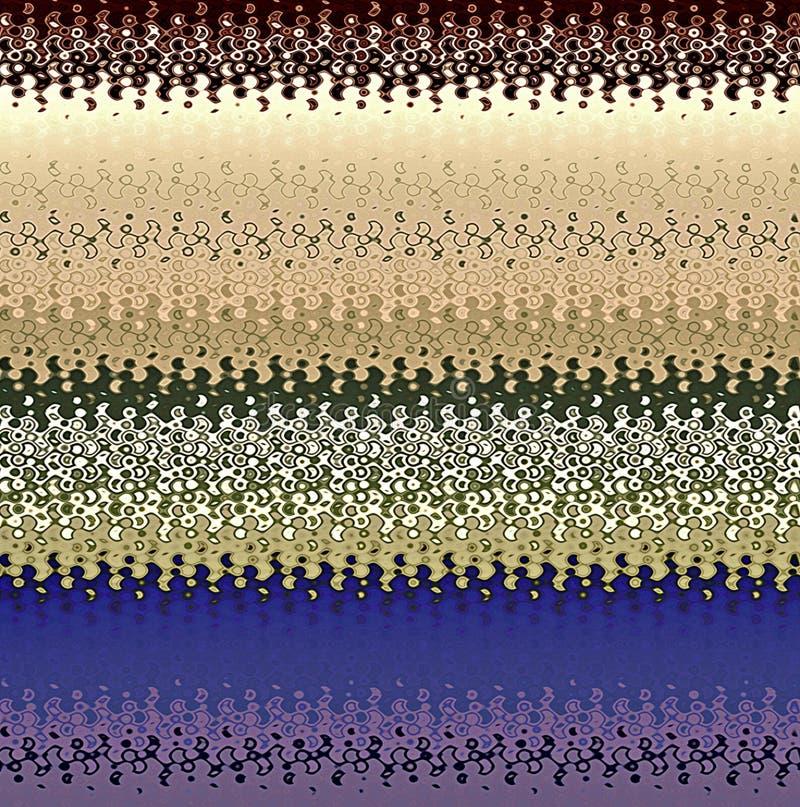 Profils onduleux d'abrégé sur peinture de Digital dans différentes nuances de fond frais de couleurs en pastel illustration stock