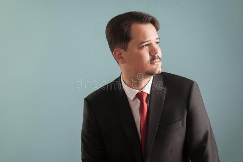 Profilstående av den yrkesmässiga affärsmannen arkivfoton