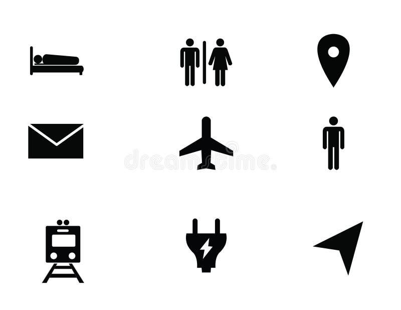 Profilsymbol vektor illustrationer