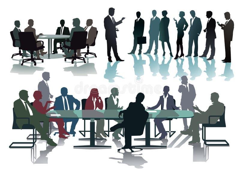 Profissionais do negócio na conferência ou na reunião ilustração stock
