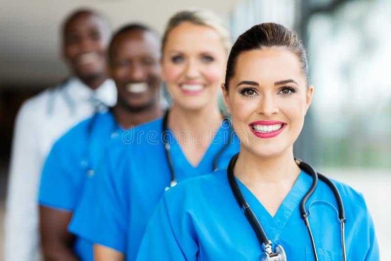 Profissionais médicos do grupo fotografia de stock royalty free