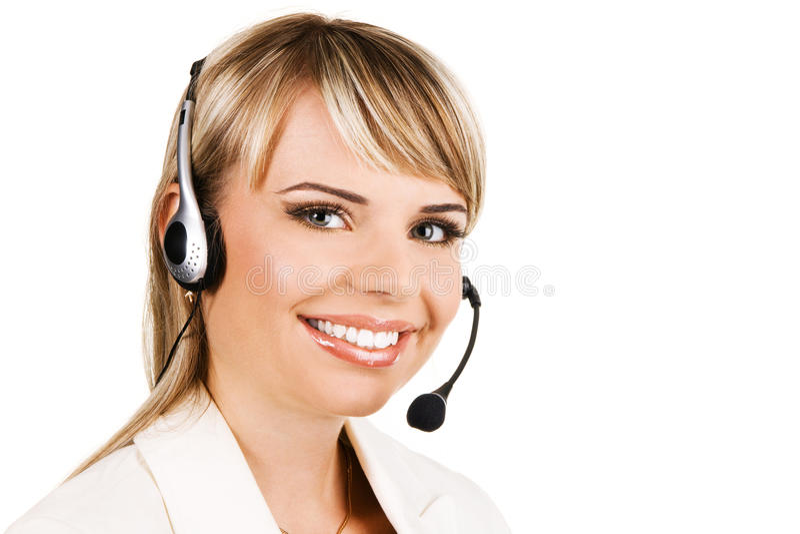 Profissional do serviço de atenção a o cliente imagem de stock