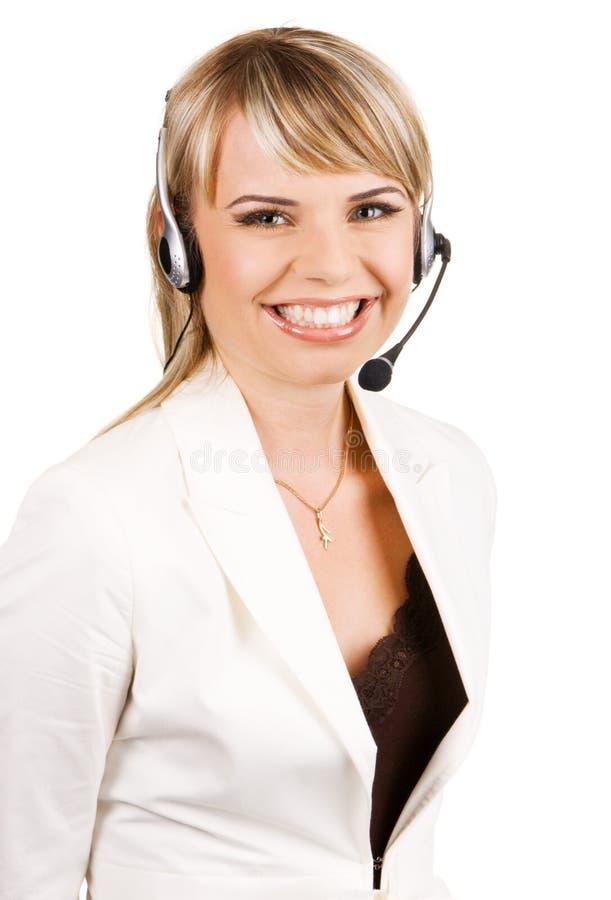 Profissional do serviço de atenção a o cliente fotos de stock