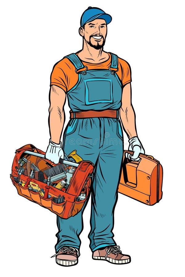 Profissional do serviço do trabalhador manual do reparador ilustração stock