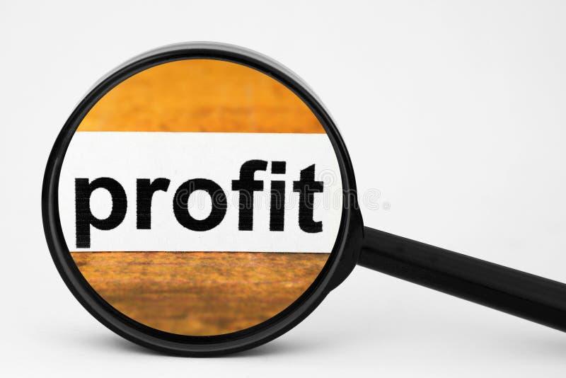 Profit. A Close up of Profit stock images