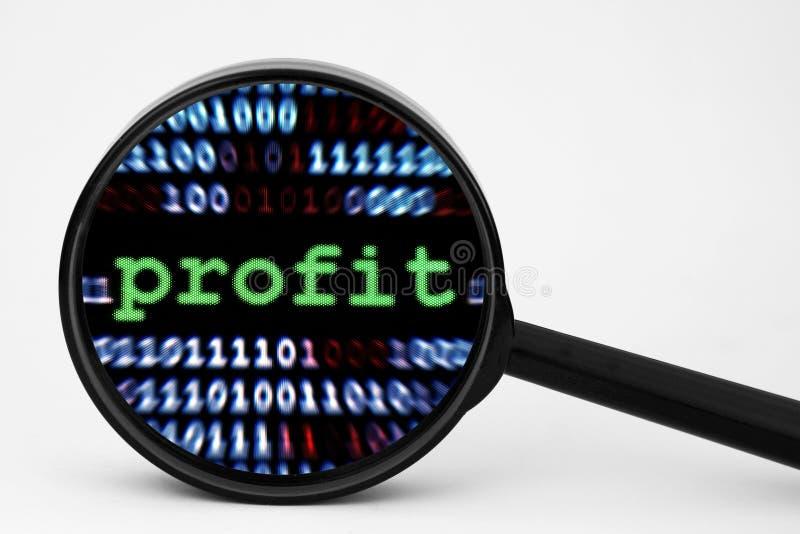 Profit. A Close up of Profit stock photography