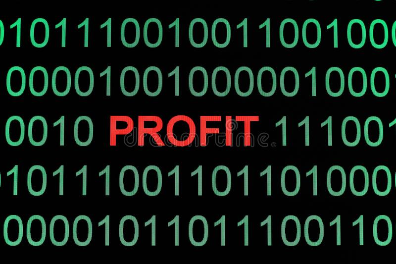 Profit. A Close up of Profit royalty free stock images