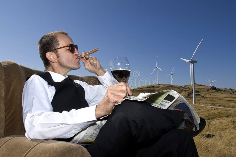 Profit. Concept of renewable energy profit stock photography