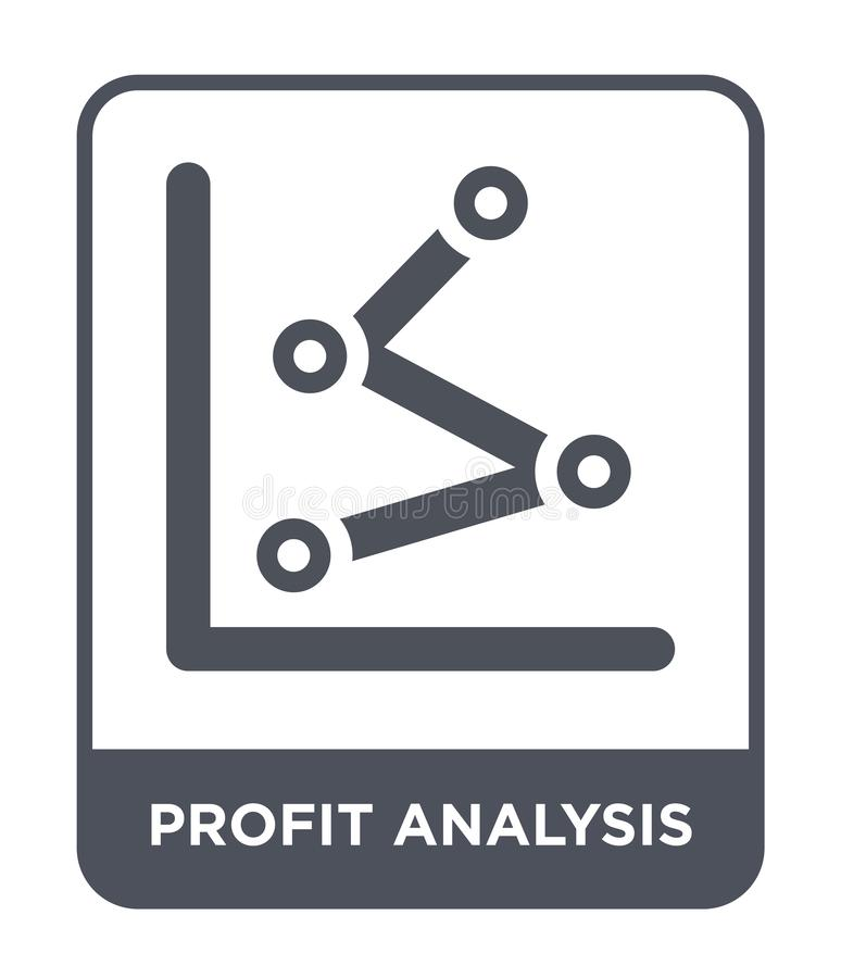 Profit analysis icon in trendy design style. profit analysis icon isolated on white background. profit analysis vector icon simple. And modern flat symbol for vector illustration