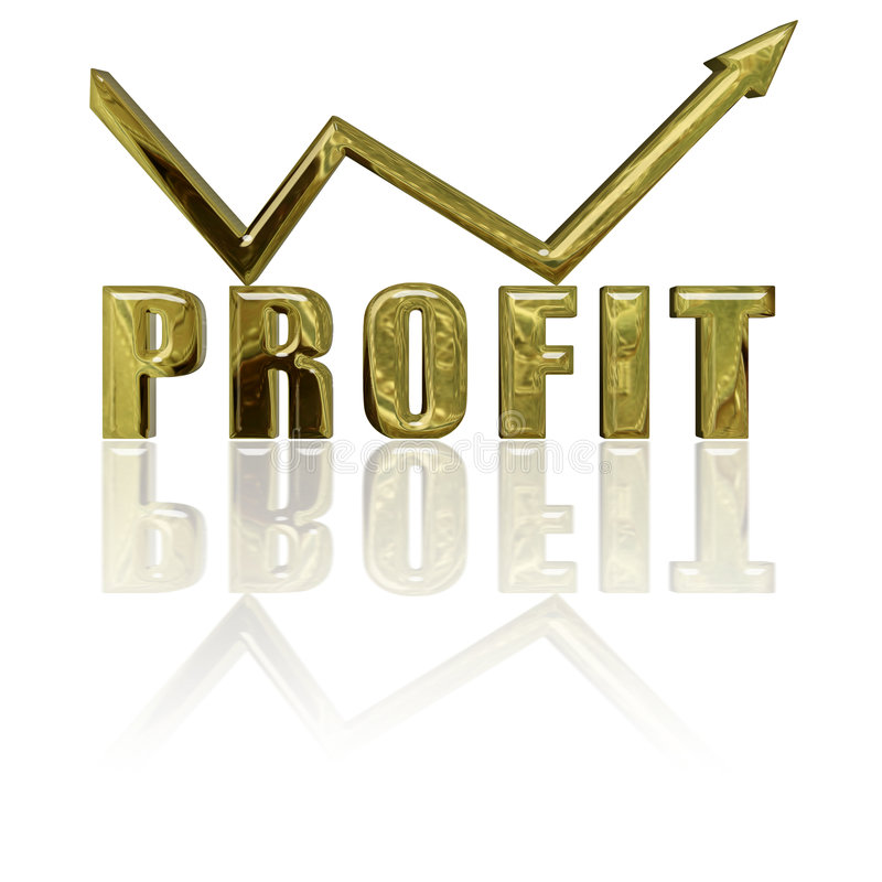 Profit and Arrow royalty free illustration