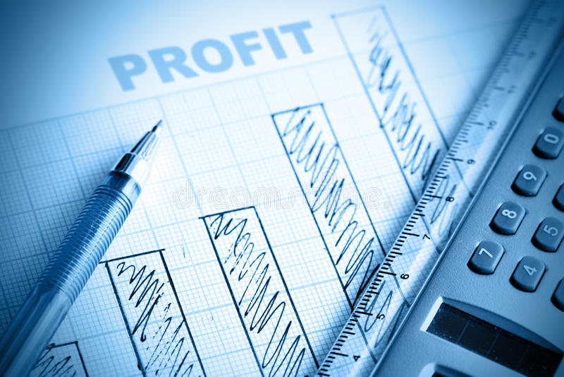 Profit bar chart royalty free stock photography