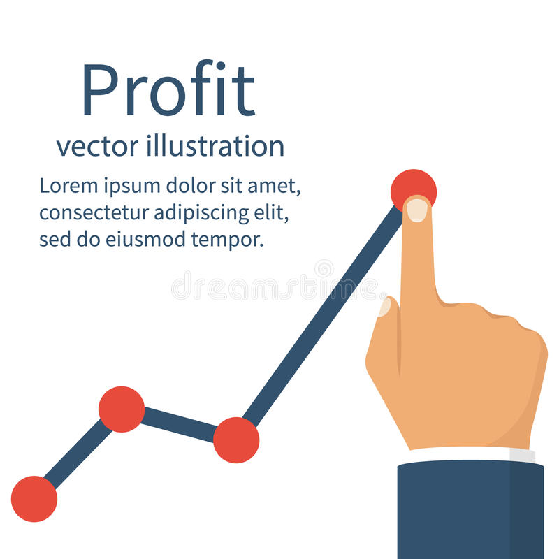 Profit concept, growing royalty free illustration
