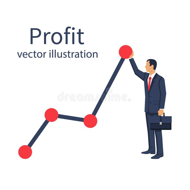 Profit concept, growing business graph royalty free illustration