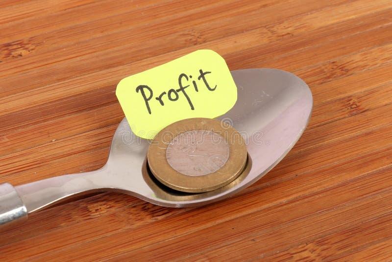 Profit. Concept image of profit on wooden background stock image