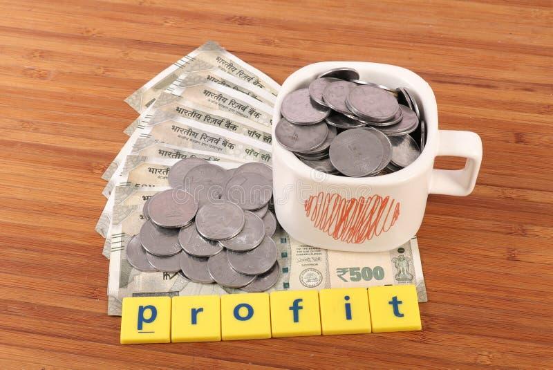 Profit. Concept shot showing money profit stock photo