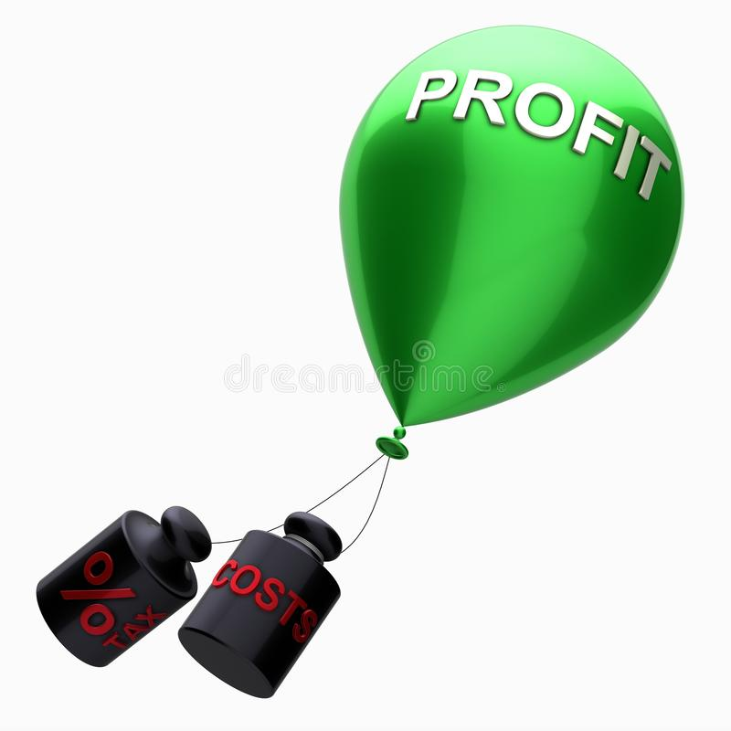 Download Profit and costs stock illustration. Image of cash, growth - 20490152