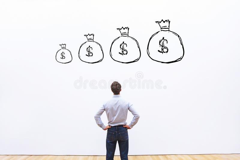 Profit growth financial concept, money and finance royalty free stock images
