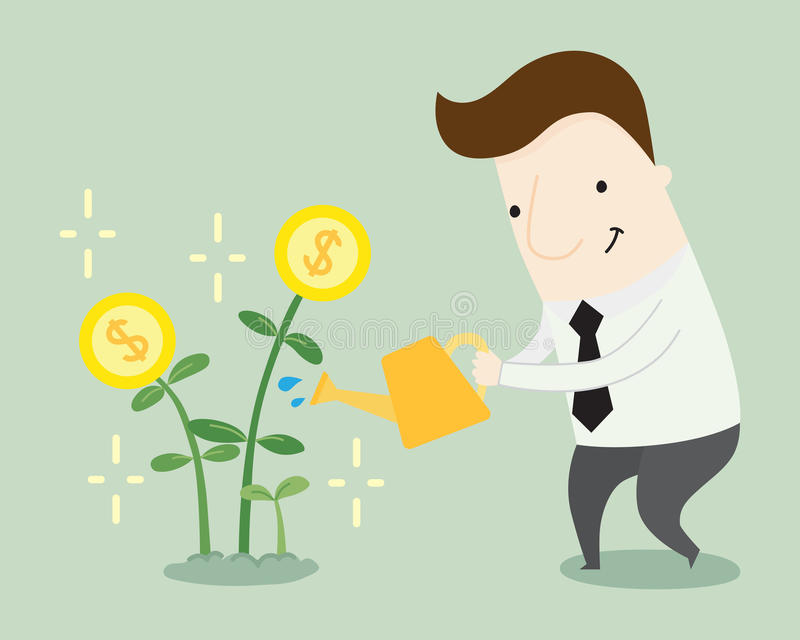 Profit growth. Vector illustration cartoon stock illustration