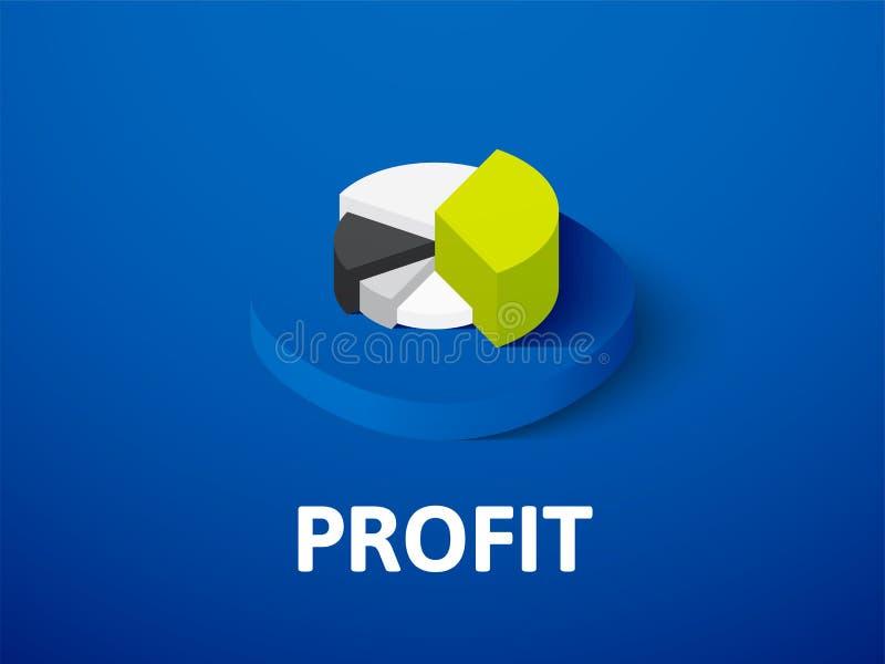 Profit isometric icon, isolated on color background royalty free illustration