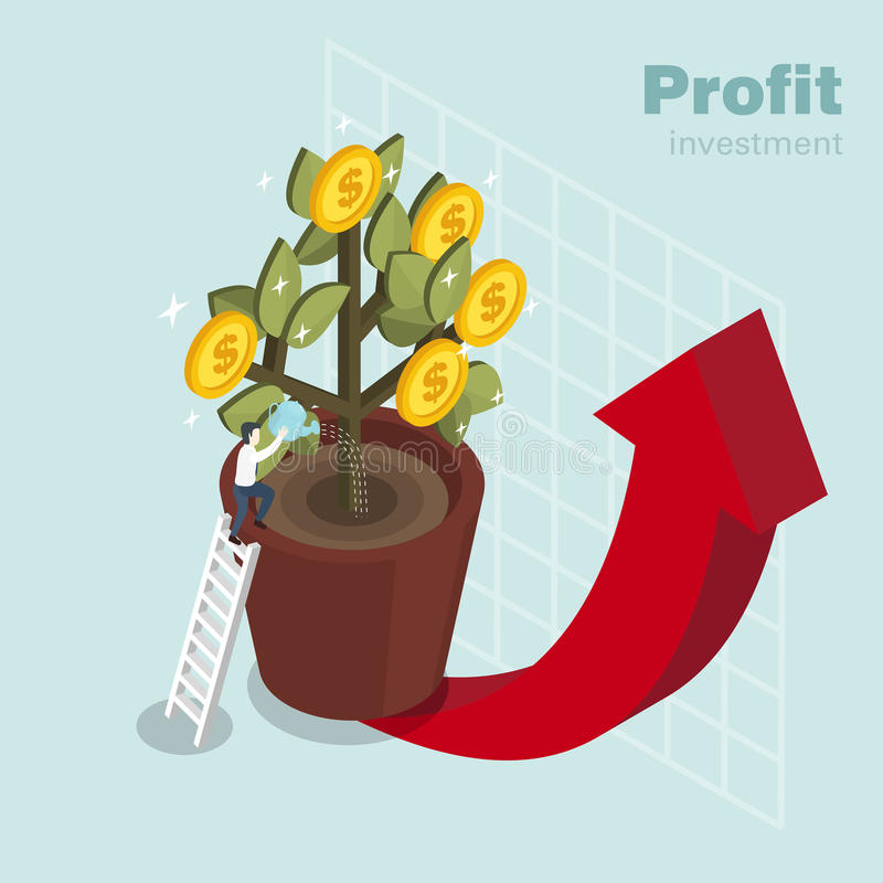 Profit investment royalty free illustration