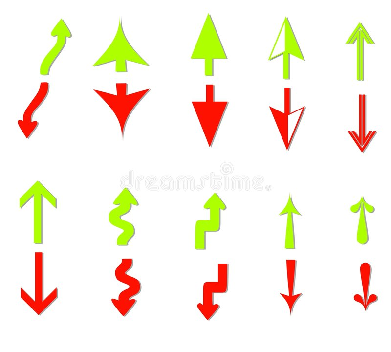Download Profit And Loss Arrows Clip Art Stock Image - Image: 4824781