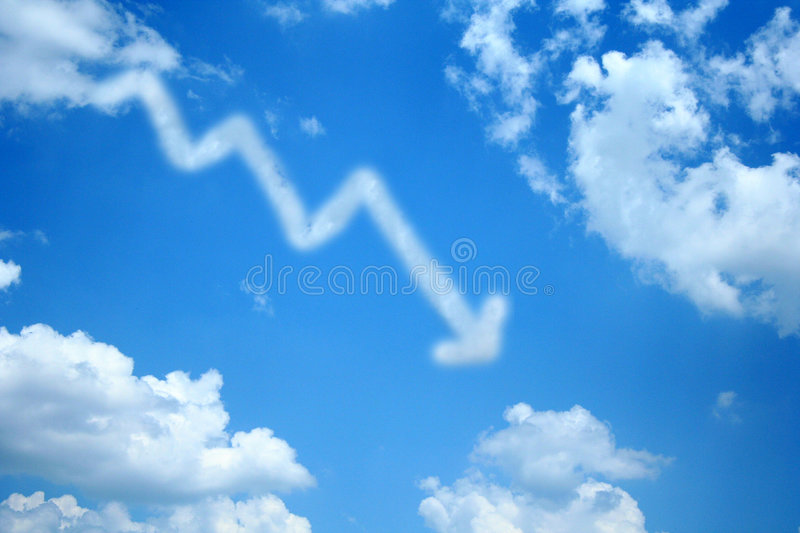 Profit Loss Cloud royalty free stock images