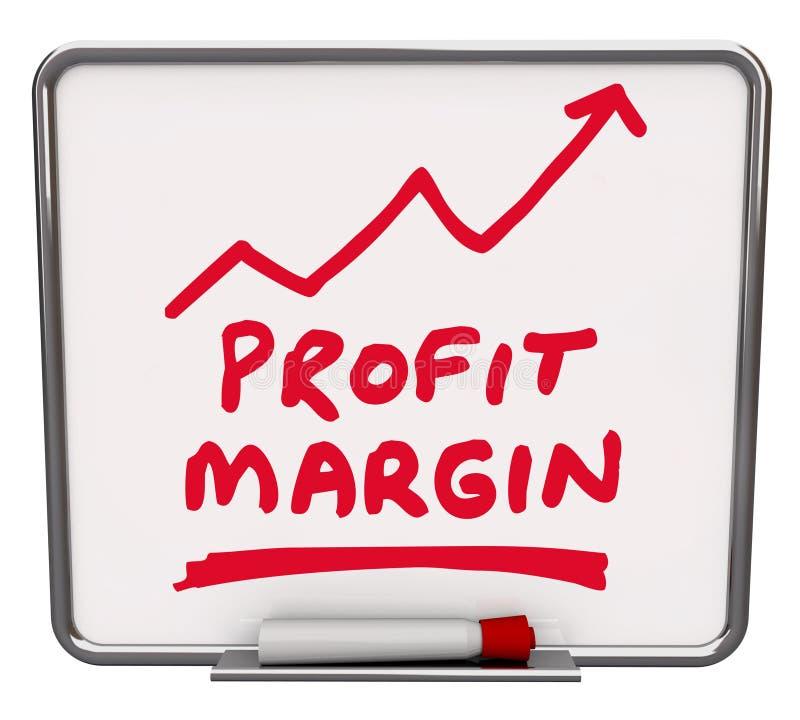 Profit Margin Words Dry Erase Board Arrow vector illustration