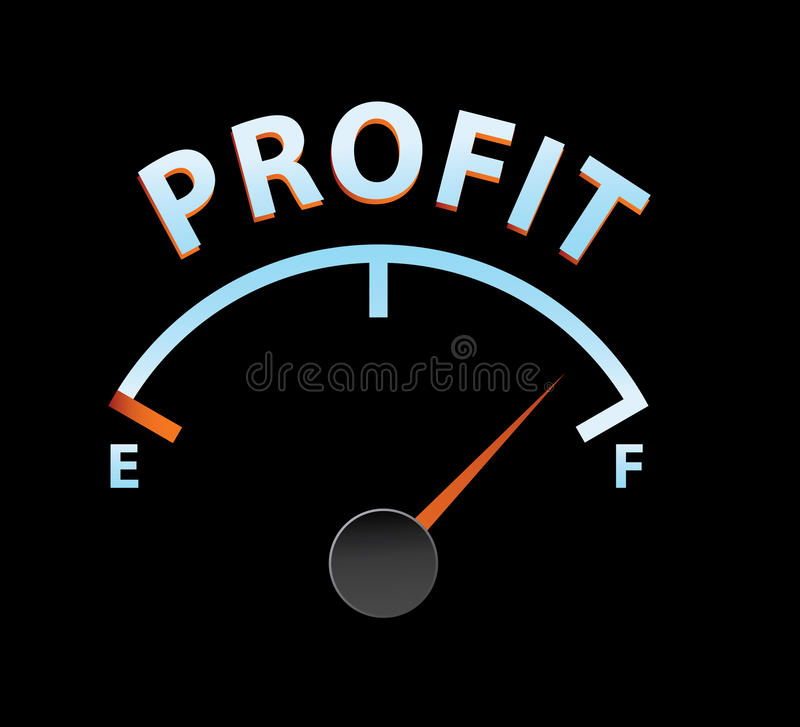 Profit meter. In vector mode vector illustration