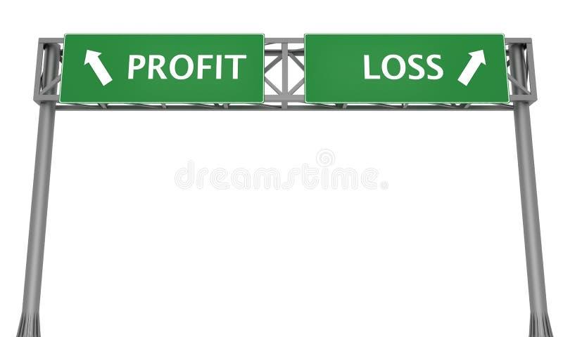 Profit oder Verlust vektor abbildung