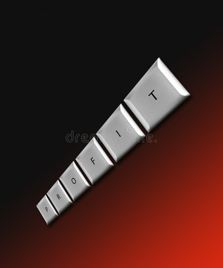 Download Profit On Red/black Stock Photo - Image: 194770