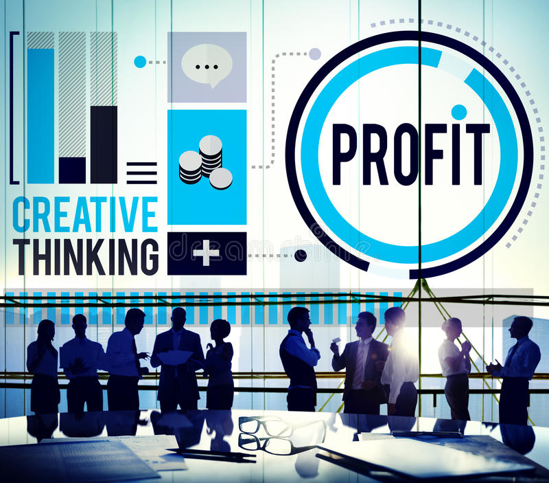 Profit Revenue Income Improvement Growth Success Concept.  royalty free stock image