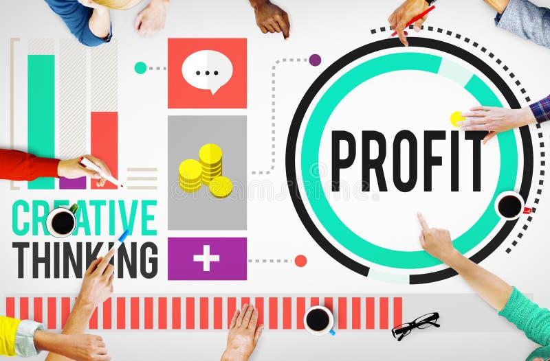 Profit Revenue Income Improvement Growth Success Concept stock photography