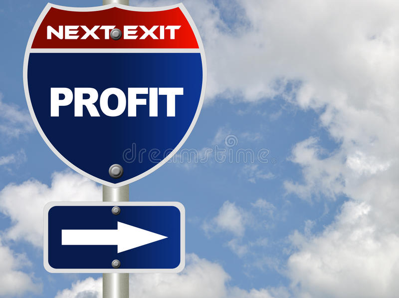 Profit road sign royalty free stock image