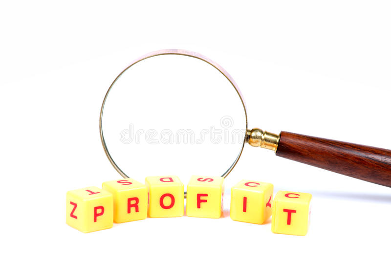 Profit search royalty free stock image