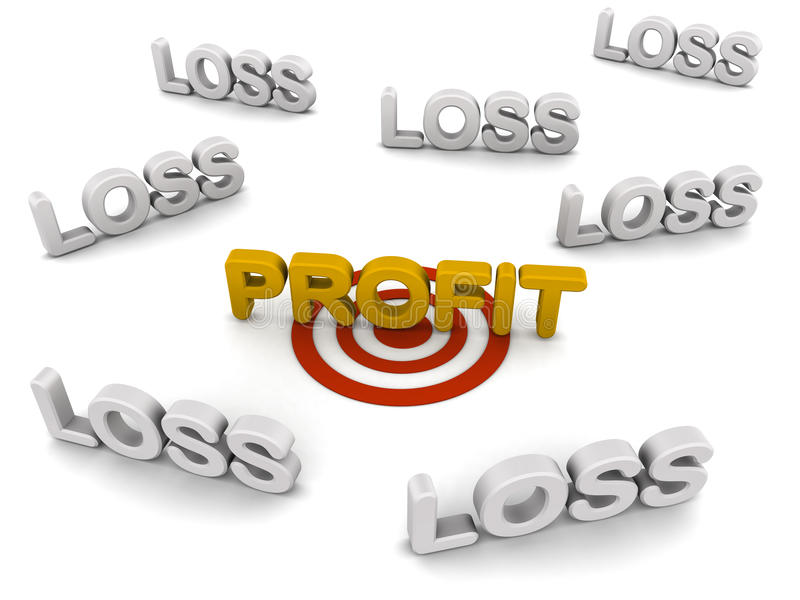 Download Profit target stock illustration. Image of business, text - 26867247