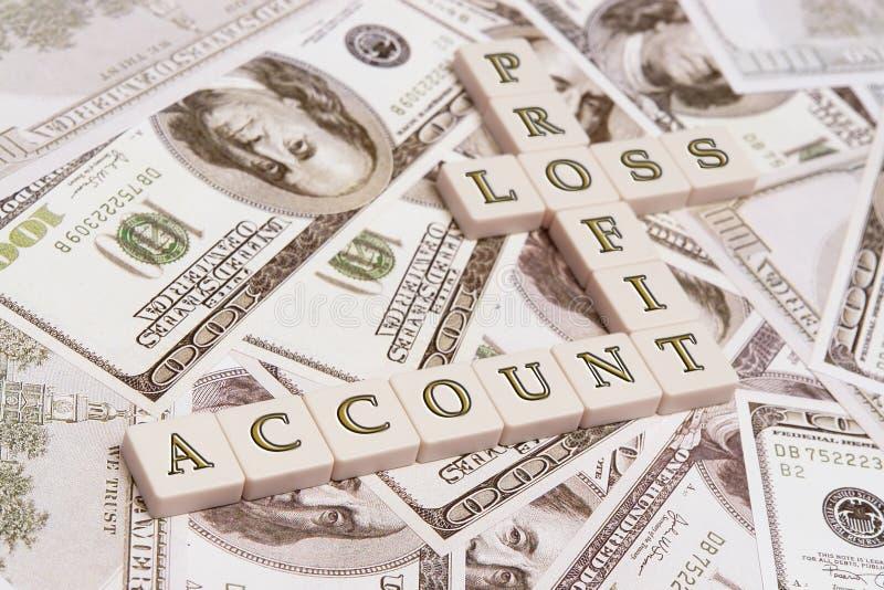 Profit- u. Verlustkonto lizenzfreies stockfoto
