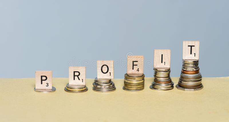 Profit In an Uncertain Market Can Be Diifficult to Come By stock photography
