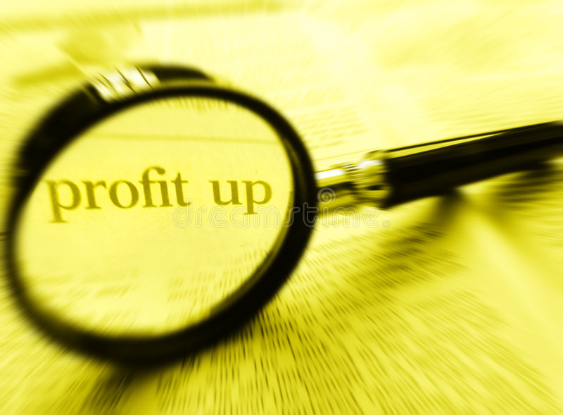 Profit Up stock photo