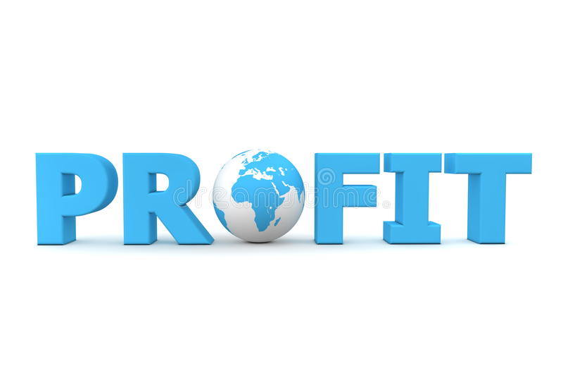 Profit-Weltblau stock abbildung