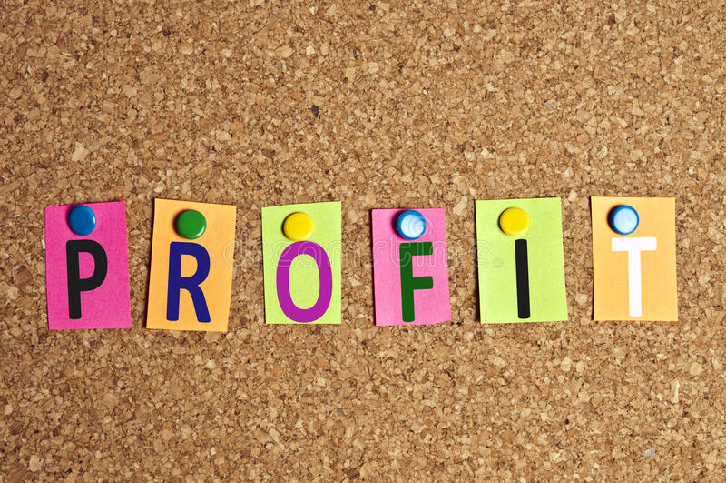 Profit Word Royalty Free Stock Photos