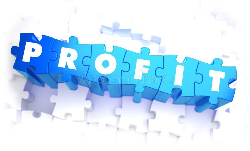 Profit - Word in Blue Color on Volume Puzzle. 3D Illustration stock illustration