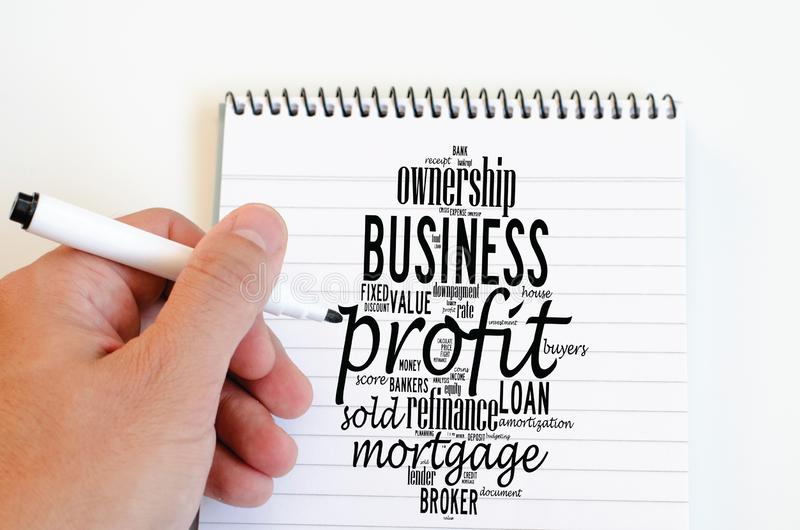 Profit word cloud collage royalty free stock photo